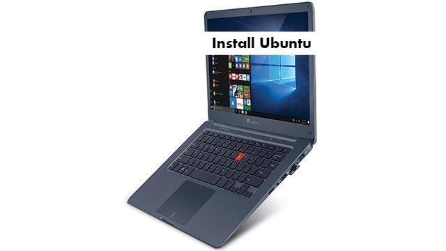 iBall CompBook Netizen Ubuntu