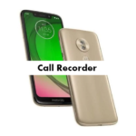Motorola Moto G7 Play Call Recorder
