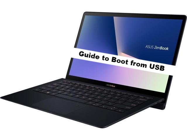 ASUS ZenBook S UX391UA boot from usb