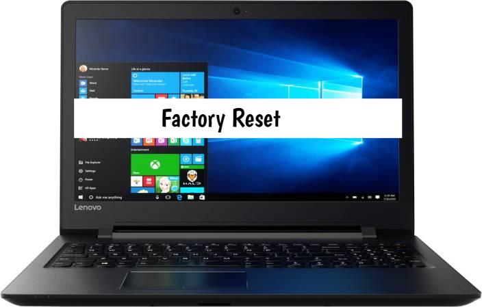 how to factory reset lenovo ideapad 110