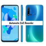 Huawei Nova 5i Call Recorder for recording calls automatically