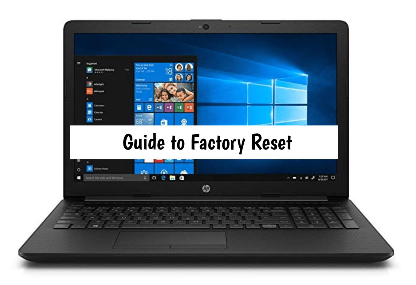 HP 15q Factory Reset