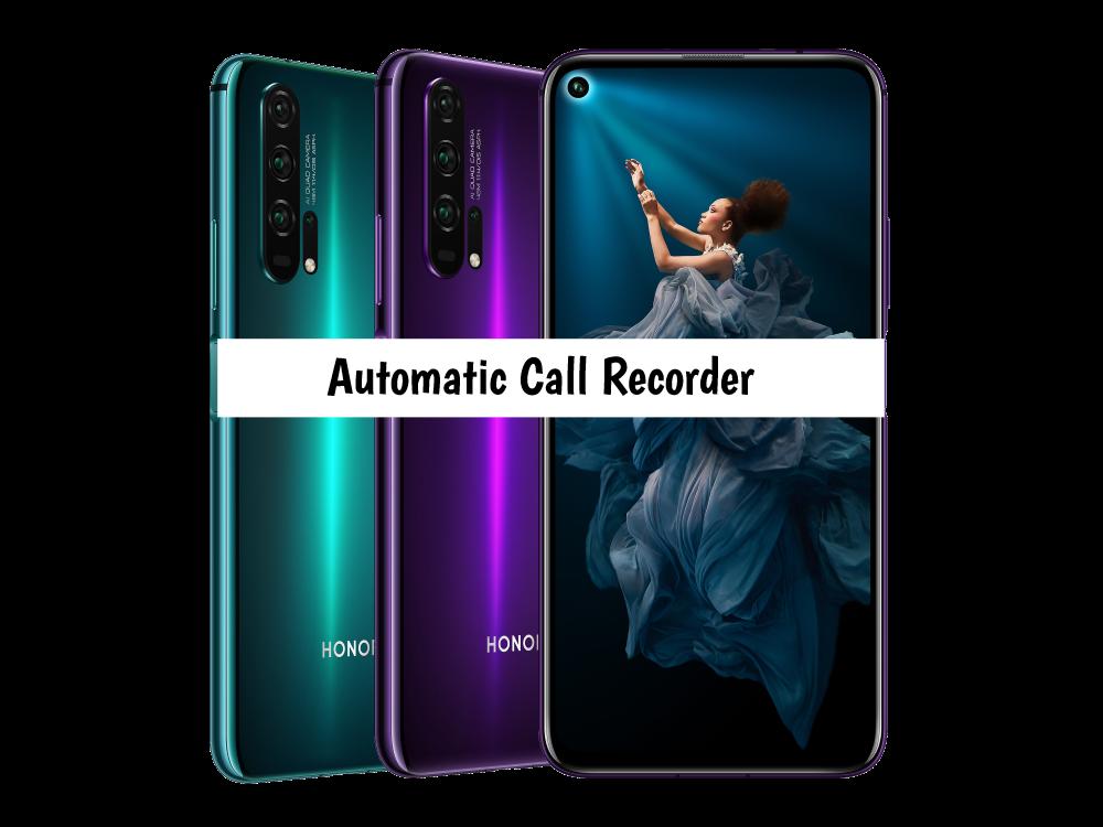 Honor 20 Pro Call recorder