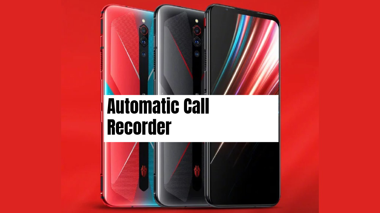 Nubia Red Magic 5G Call recorder