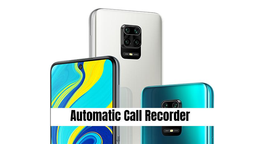 Redmi Note 9 Pro Max Call recorder