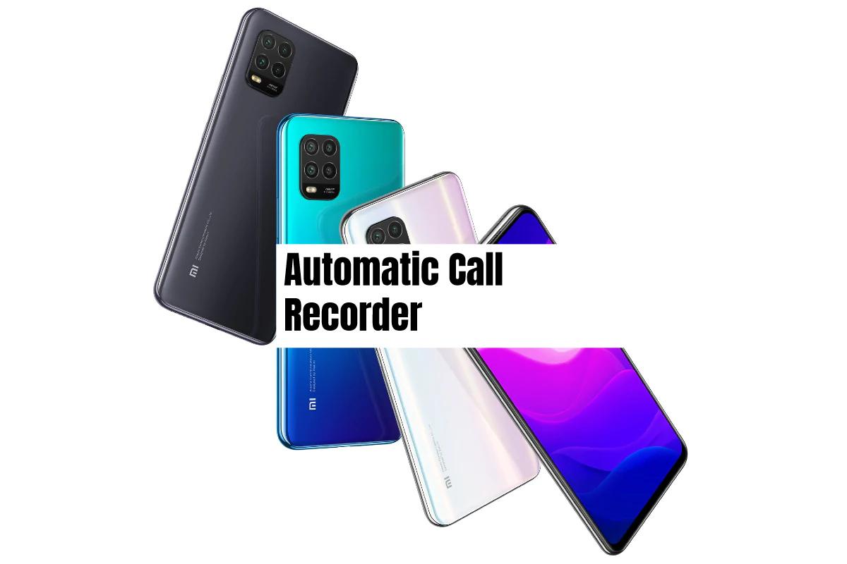 Xiaomi Mi 10 Lite Call Recorder